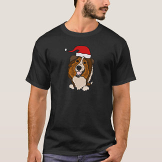 Cute Shetland Sheepdog Christmas Design T-Shirt