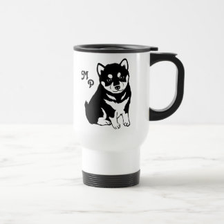 Cute Shiba Inu Puppy Art Travel Mug