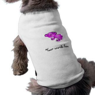 Cute Shiny pink koala Sleeveless Dog Shirt