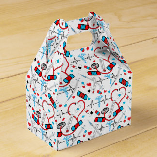 Cute Shot Needles Nurse | Doctor EKG Pattern Favour Box