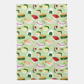 Cute Shushi Pattern Tea Towel