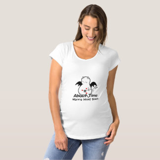 Cute Shy Devil About Time Maternity T-Shirt