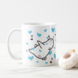 Cute Shy Devil Happy Couples Coffee Mug