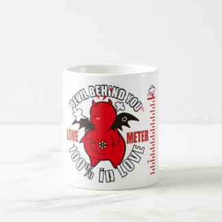 Cute Shy Devil in LOVE Coffee Mug