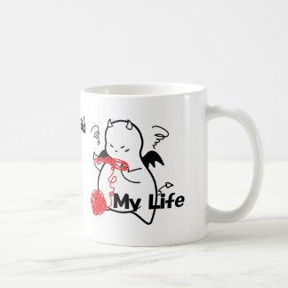 Cute Shy Devil in Maze & Coffee Mug
