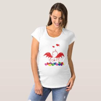 Cute Shy Devil in SWEET LOVES Maternity T-Shirt