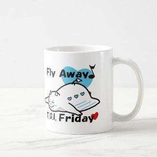 Cute Shy Devil on happy friday Coffee Mug