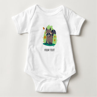 Cute Shy raccoon Baby Bodysuit