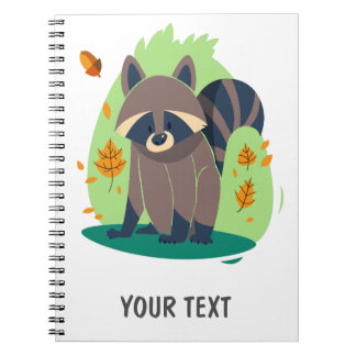 Cute Shy raccoon Notebook