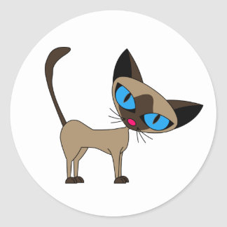 Cute Siamese Cat Stickers