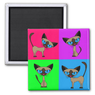 Cute Siamese Cats Magnet