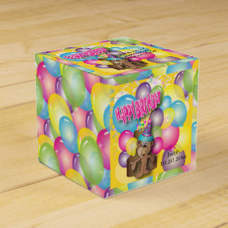 Cute Silly Birthday Party Cartoon Monkey - Yellow Favour Box