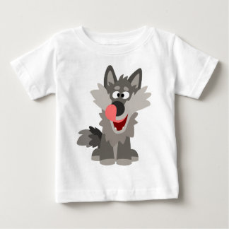 Cute Silly Cartoon Wolf Baby T-Shirt