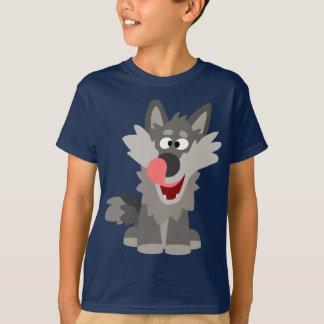 Cute Silly Cartoon Wolf Children T-Shirt
