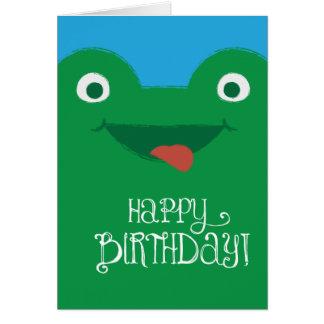 Cute Silly Frog Birthday Card