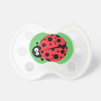 cute silly ladybug cartoon character baby pacifier