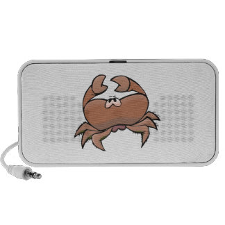 cute silly sad crab portable speakers