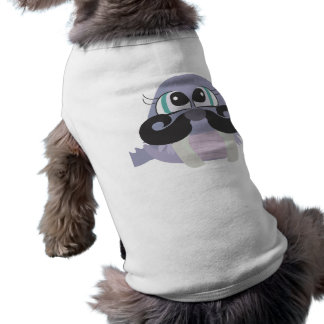 cute silly walrus cartoon with mustache shirt