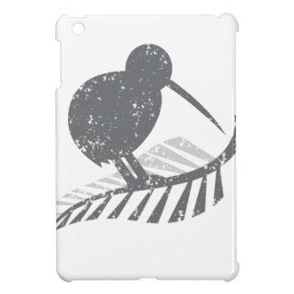 cute silver kiwi bird and silver fern distressed iPad mini cover