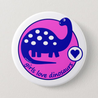 Cute Simple Bright Blue Pink Dinosaur for Girls