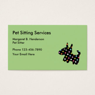 Cute Simple Pet Sitter Businesscards Business Card