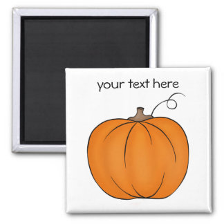 Cute simple pumpkin magnet
