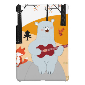 Cute sing a summer song fox wolf and teddy bear iPad mini cases