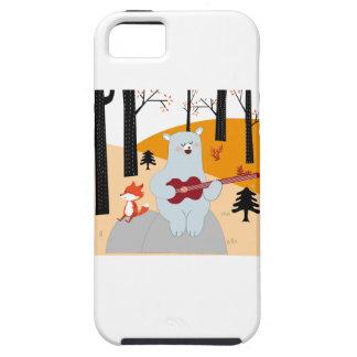 Cute sing a summer song fox wolf and teddy bear iPhone 5 case