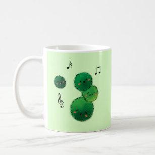Cute Singing Marimo Moss Stack Coffee Mug
