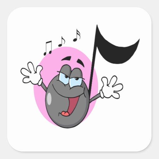 cute singing music musical note cartoon character sticker