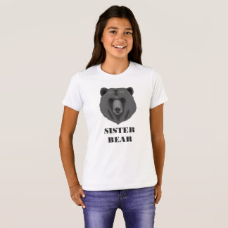 Cute Sister Bear Teen Girl's T-Shirt