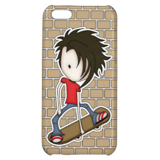 Cute Skateboarder Teenage Boy Cover For iPhone 5C
