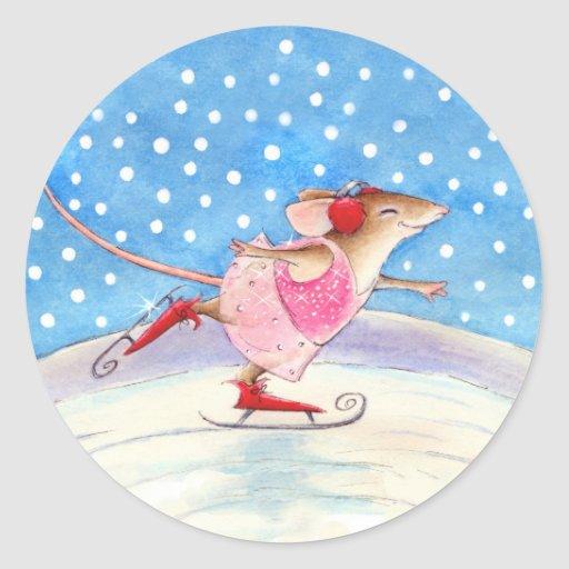 Cute Skating Mouse Stickers