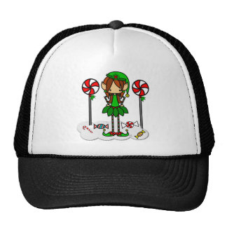 Cute skinny elf Christmas girl Trucker Hat