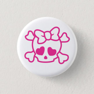 Cute Skull 3 Cm Round Badge