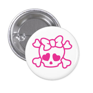 Cute Skull 3 Cm Round Badge