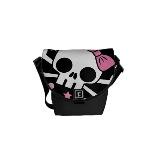 Cute Skull and Crossbones Messenger Bag