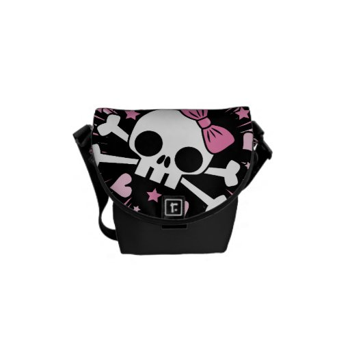 Cute Skull and Crossbones Courier Bag