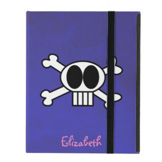 Cute Skull and Crossbones Personalized Covers For iPad