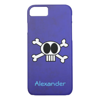 Cute Skull and Crossbones with Big Black Eyes iPhone 7 Case