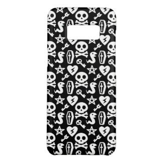 CUTE SKULL & CROSSBONES BLACK AND WHITE HALLOWEEN Case-Mate SAMSUNG GALAXY S8 CASE