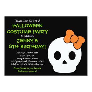 Cute SkullHalloween Invitation
