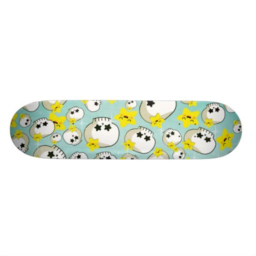 Cute Skulls And Stars Pattern Skate Decks