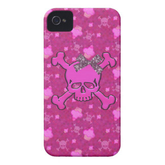 Cute Skulls & Cupcakes Pink iPhone 4 Case