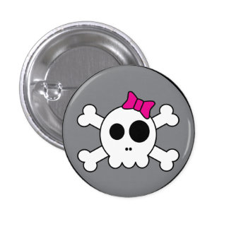 Cute Skully Button