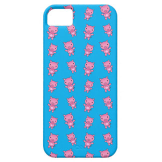 Cute sky blue pig pattern iPhone 5 covers