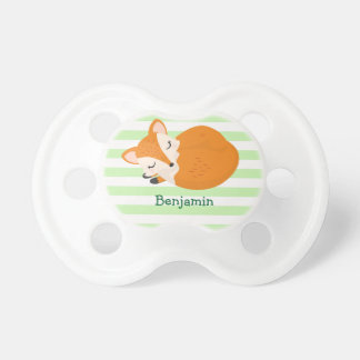 Cute Sleeping Baby Fox to Personalize Dummy