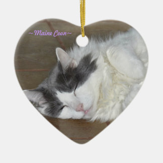 Cute sleeping fluffy cat Ornament