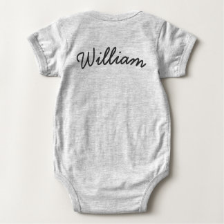 Cute Sleeping Penguin baby bodysuit with Name