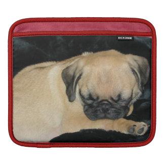 Cute Sleeping Pug Puppy iPad Sleeve
